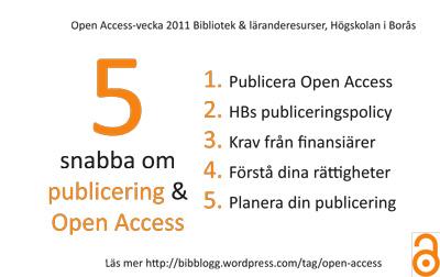 Open access vecka