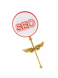 Magic wand with an inscription SEO.